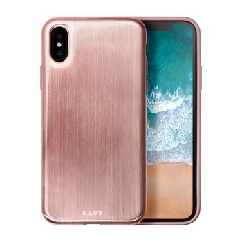 LAUT IPHONE X BACK CASE HUEX METALLICS,  rose gold