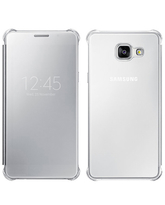 SAMSUNG GALAXY A710 CLEAR CASE VIEW,  silver