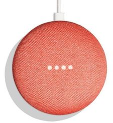 GOOGLE HOME MINI WIRELESS VOICE ACTIVATED SPEAKER,  coral