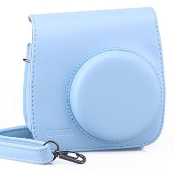 CAIUL INSTAX MINI 8 PU LEATHER CAMERA CASE BAG - BLUE