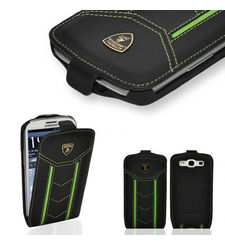 SKY LAMBORGHINI LEATHER FLIP CASE FOR GALAXY S3 BLACK