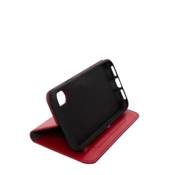 KNOMO IPHONE X BACK CASE LEATHER FOLIO,  chilli