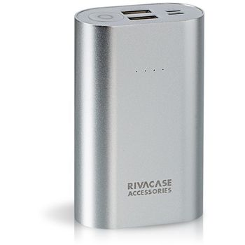 RIVAPOWER POWER BANK 10K MAH PORTABLE VA1010,  silver