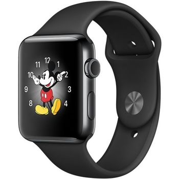 APPLE WATCH SERIES 2 42MM BLACK SPORT BAND MP4A2