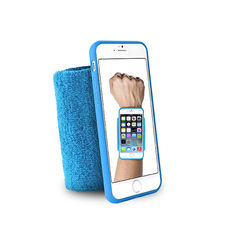 "PURO IPHONE 6 4.7"" RUNNING WRISTBAND with key pocket,  blue"