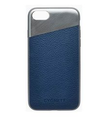 CYGNETT IPHONE 8 LEATHER CASE,  navy