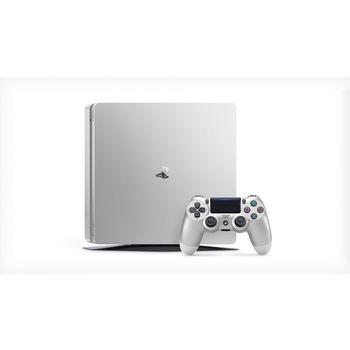 SONY PLAYSTATION 4 SLIM - 500GB, 2 CONTROLLERS,  silver