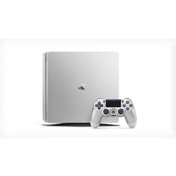 SONY PLAYSTATION 4 SLIM - 500GB, 2 CONTROLLERS,  silver