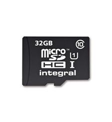 INTEGRAL MICRO SD CARD 32GB+ USB 3.0 CARD READER,  black