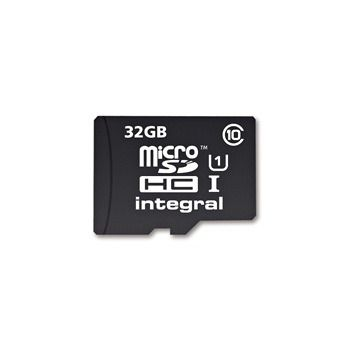 INTEGRAL MICRO SD CARD 32GB+ USB 3.0 CARD READER,  black