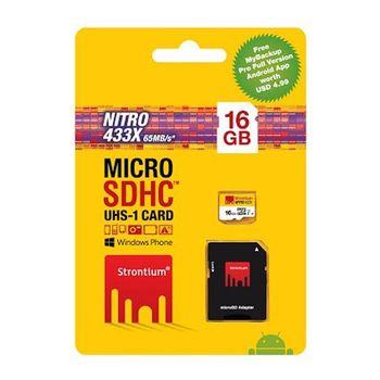 STRONTIUM 16GB NITRO MICROSD 433X UHS1 (3IN1)
