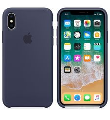 APPLE IPHONE X SILICONE BACK CASE,  midnight blue