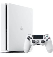 SONY PLAYSTATION 4 SLIM 500GB, 1 CONTROLLER,  white