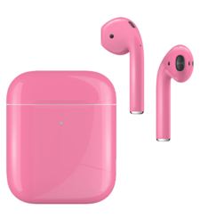 APPLE AIRPODS SECOND GEN WIRELESS PAINTED SPECIAL EDITION, gloss,  romance pink