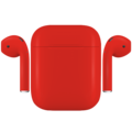 APPLE AIRPODS PAINTED SPECIAL EDITION,  ferrari, matte