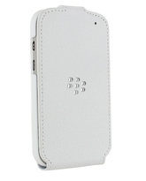 BLACKBERRY Q5 LEATHER FLIP SHELL,  white