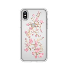SPECK IPHONE X BACK CASE PRESIDO CLEAR PLUS PRINT,  pink