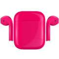 APPLE AIRPODS PAINTED SPECIAL EDITION,  pink, gloss