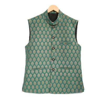 Alexander, l, khadi silk, dark green