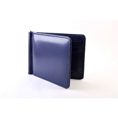 Navy Blue Money Clip, navy blue, leather