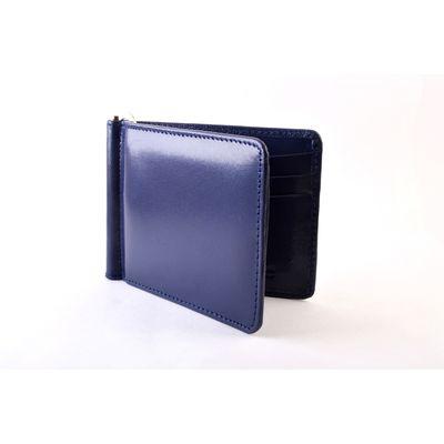 Navy Blue Money Clip, navy blue, leather