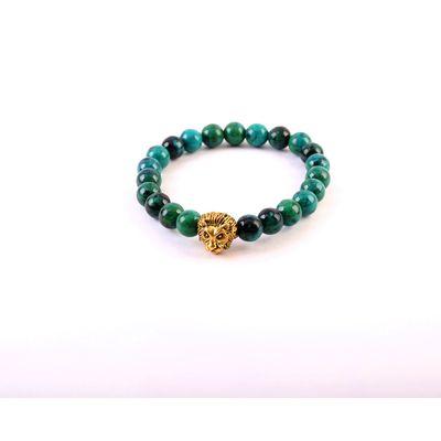 LION'S DALE, green, semi precious stones