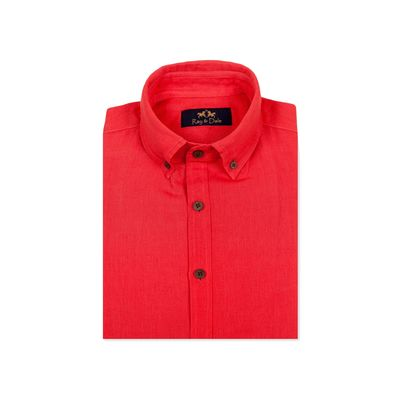 LINOR - RED, red, s, linen