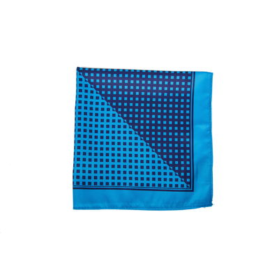 DOUBLE AQUA, blue, silk blend