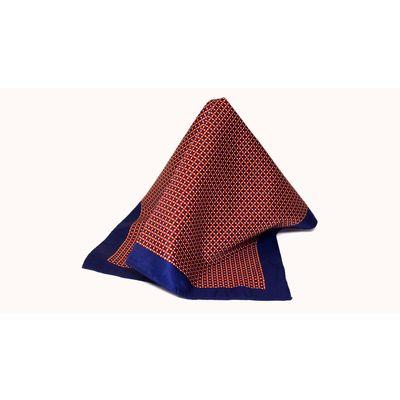 Blue lava, red, silk