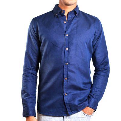 Blue Jay, xl, cotton linen, blue