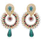 Pink Rose - Complement Collection Maroon Green Alloy Passion Drops For Women