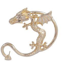 Pink Rose - Attitude Collection Gold Alloy Dragon Earcuff For Women (Single Ear)
