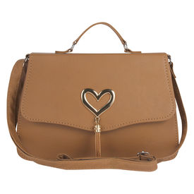 Pink Rose - Complement Collection Brown Elegant Sling Bag For Women/Girls, brown, pu, 25x17x8