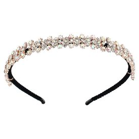 Pink Rose - Complement Collection Gold Alloy Stone Princess Charm Hair Band For Women