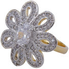 Pink Rose - Complement Collection White American Diamond Alloy Passion Ring For Women