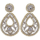 Pink Rose - Complement Collection Gold White Alloy Dazzling Danglers For Women
