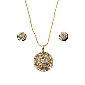 Pink Rose - Complement Collection Golden Passion Metal Necklace Set For Women
