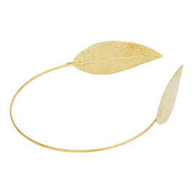 Pink Rose - Complement Collection Gold Alloy Leaf Charm Hair Band For Women (Head Gear)