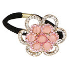 Pink Rose - Princess Collection Pink Alloy Stone Hair Band For Women/Girls, alloy, pink, 5