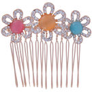 Pink Rose - Complement Collection Pink Orange Blue Alloy Floral Hair Clip For Women