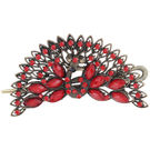 Pink Rose - Complement Collection Red Alloy Charm Hair Crow For Women