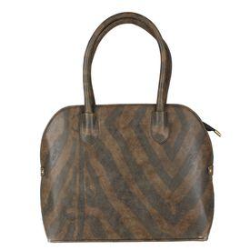 Pink Rose - Elegant Collection Brown Princess Charm Handbag