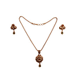 Pink Rose - Majestic charm necklace set
