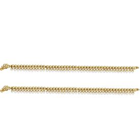 Pink Rose - Complement Collection Gold White Pearl Copper Princess Charm Payal For Women (Set of 2)