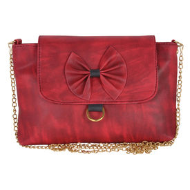 Pink Rose - Complement Collection Red Elegant Sling Bag For Women/Girls, maroon, pu, 24x16x5