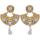 Pink Rose - Complement Collection Gold White Alloy Passion Drops For Women