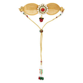 Pink Rose - Complement Collection Multicolour Alloy Stone Charm Armlet For Women, 14, multicolour, alloy