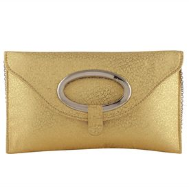 Pink Rose - Complement Collection Gold Princess Charm Clutch