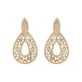 Pink Rose - Golden Sizzel Earrings