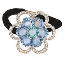 Pink Rose - Princess Collection Blue Alloy Stone Hair Band For Women/Girls, blue, alloy, 5